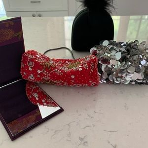 Lot of 3 Change Purses + pocket mirror!
